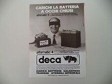 advertising Pubblicità 1979 BATTERIE DECA