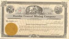 Eureka Central Mining Company > Nevada mine stock certificate