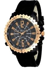 Black Rose Gold Mens Geneva Watch Designer Boyfriend Band Rubber Sport Oversized