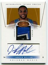 2004-05 Hoops Hot Prospects JAMEER NELSON Auto 4 Color Patch RC Rare SP #/350