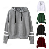 Womens Long Sleeve Hoodie Sweatshirt Jumper Hooded Pullover Casual Tops Blouse