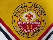 1960 Boy Scouts National Jamboree Scarf BSA 50 Year Anniversary Colorado Springs