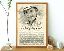 I cross my heart Poster No frame Home Wall Decor Glossy Paper Print Art Design