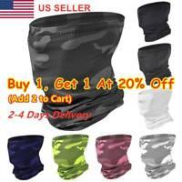 Unisex Tube Scarf Bandana Head Face Cover Summer Neck Gaiter Snood Headwear US