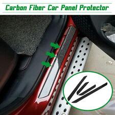 4 pcs Carbon Fiber Car Door Scuff Plate Sill Cover Panel Step Protector Guard !
