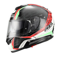 CASCO INTEGRALE NZI SYMBIO DARK RED GREEN, TAGLIA XL CASCO AUTO MOTO KART