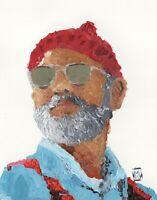 Bill Murray Steve Zissou Abstract Palette Knife Contemporary Painting Art Print