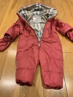 Burberry Down Padded Baby Snow Suit Pink Size 18months