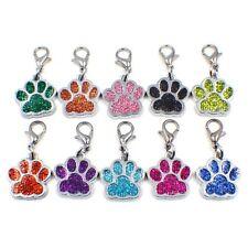 dog paw +Lobster clasp Hang Pendant Dangle Charms for Necklaces bracelet pet