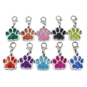 dog paw +Lobster clasp Hang Pendant Dangle Charms for Necklaces bracelet pet