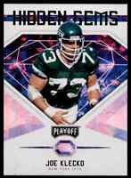 2018 PLAYOFF HIDDEN GEMS JOE KLECKO NEW YORK JETS #7 INSERT