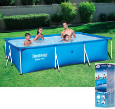 BestWay SWIMMING POOL 300 x 201 Rectangular Garden Above Ground Pool Steel Pro