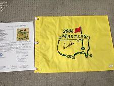Arnold Palmer Center Signed 2006 Masters Augusta National Golf Flag JSA LOA PGA
