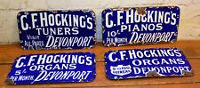 G. F. Hockings musical enamel sign early advertising mancave decor metal vintage