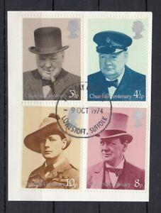(80225) GB Used Winston Churchill 1974 ON PIECE