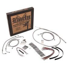 """Burly Brand 13"""" Ape Hanger Cable Brake Line Kit for Harley FLHX, FLHT/C/U 08-13"""