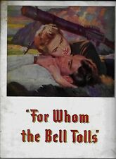For Whom the Bell Tolls 1943 Movie Theater Booklet Gary Cooper / Ingrid Bergman