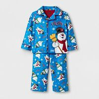 Frosty the Snowman 2 Piece Pajama Set Baby/Toddler Boys Size 2T Months Blue New