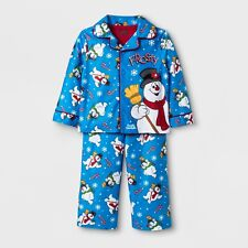 Frosty the Snowman 2 Piece Pajama Set Baby/Toddler Boys Size 18 Months Blue New