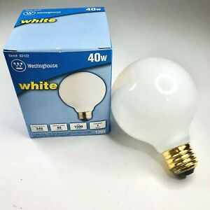 12 PACK - Westinghouse 40W G25  Incandescent Bulb  340 lumens White Globe (A1)