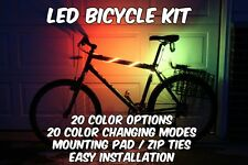 Bicycle LED Strip Light Kit 20 inches AA Battery Operated 5050 RGB Mini 3 Button