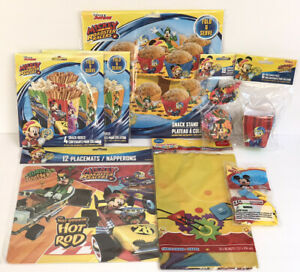 Lot Of 52 Mickey Mouse Clubhouse Party Supplies & Decor Table Cover Cupcake Kit