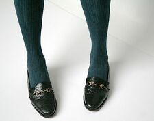 UK 5.5 / 6 (narrow fit) Vintage Shoes - Black leather snaffle-bit loafers - 80s