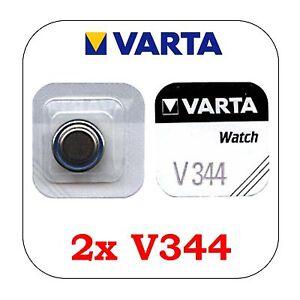 2 Stück VARTA V344 Silberoxid Knopfzelle V 344 Batterie SR42SW  SR1136SW Blister