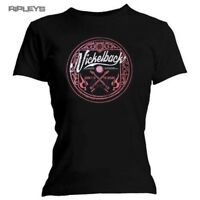 Official Ladies T Shirt NICKELBACK Burn It To The Ground CIRCLE Logo All Sizes