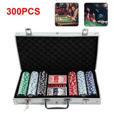 More details for poker set - 300 pcs laser chips texas hold em cards dice decks casino game uk