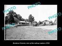 OLD LARGE HISTORIC PHOTO OF BOOLARRA VICTORIA, THE RAILWAY STATION 1930