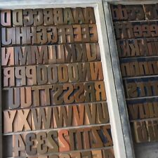 45 mm - Holzlettern Holzbuchstaben Lettern Plakatschrift Letterpress Tiegel A-Z