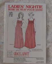 GRACE KNOTT DESIGNER PATTERN HEIRLOOM SEW LADIES SMOCKED NIGHTIE SZ 8 TO 18  ~