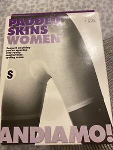 Biking Andiamo Women's Padded Skins: White, Small