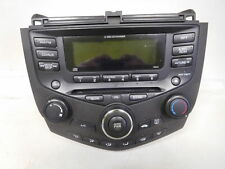 03-07 HONDA ACCORD 6 DISC CD RADIO UNIT STEREO PLAYER MANUAL CLIMATE CONTROL
