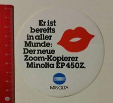 Aufkleber/Sticker: Minolta - Der neue Zoom-Kopierer Minolta EP 450Z (050417135)