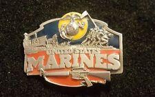 Awesome USMC Unites States Marine Corps Siskiyou Belt Buckle used collectible