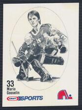 1986-87 Kraft Sports Hockey Card Mario Gosselin