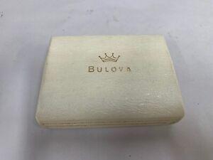 Empty Vintage Bulova Goddess Of Time Wristwatch Watch Presentation Case(A7)
