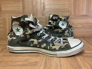 RARE🔥 Converse Chuck Taylor All Star Hi Military Olive Camo Army 12 Men's Shoes