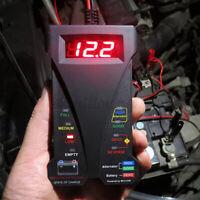 12V Digital Battery Alternator Tester LED Display Volt Check Car Motorcycle  v