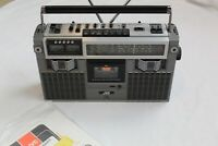 Vintage JVC Stereo Radio Cassette Recorder RD-727JW/C Boombox Paperwork 1980