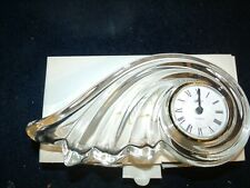 Mikasa Crystal Quartz Desk Clock Clearwater Wave Germany Mantle New