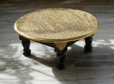 Brass Handmade Round Chowki Bajot
