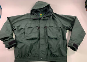 Mens Cabelas GoreTex Guidewear Jacket Waterproof Green XXL Tall Fly Fishing Coat