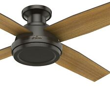 Hunter Fan 52 in. Low Profile Ceiling Fan with Remote Control, Noble Bronze