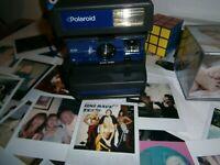 Polaroid Camera Film-GUIDE MANUAL BAG INCLUSIVE  Iconic Rarer BLUE FASCIA fff