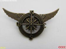 Steampunk broche insignia con Pin alas bronce brújula militar Pirata Black Sails
