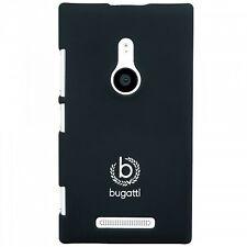 Bugatti Clip On Cover Hard Plastic Case Black Silk Matte Nokia Lumia 925 Snap-on