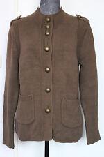 STRICKJACKE von PASSPORT Damen JACKE Military-Look olivgrün Gr. 38 - WIE NEU!